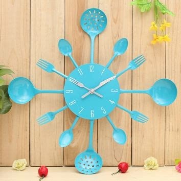 Sweet Home Wall Clock Jam Dinding shop spoon and fork kitchen decorations on wanelo