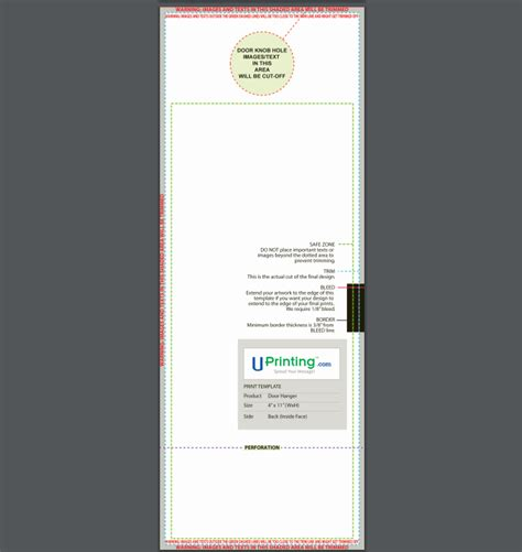 front door template how to use uprinting s printing templates in 5