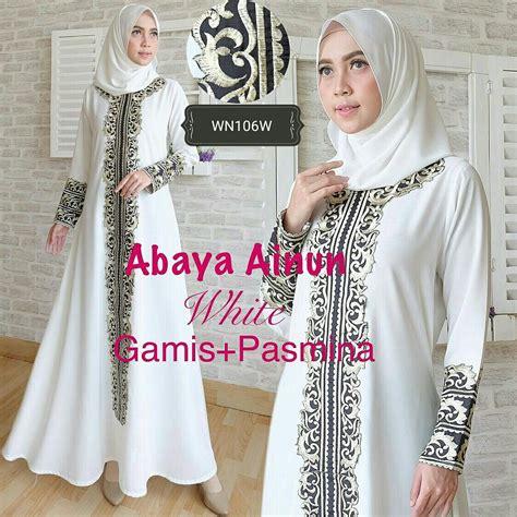 Gamis Abaya Bordir baju gamis pesta abaya ainun busana muslim pesta