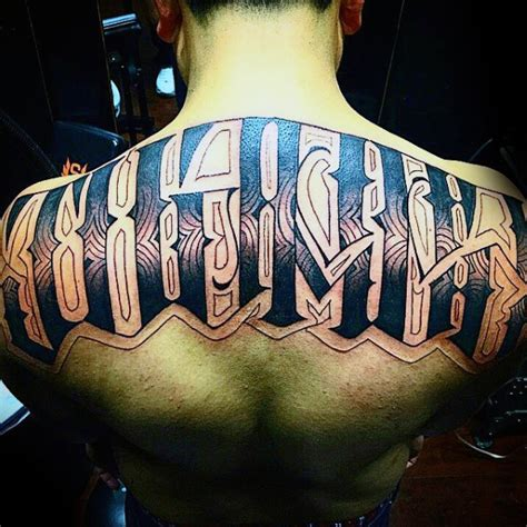 last name on back tattoo designs 50 back tattoos for masculine ink design ideas