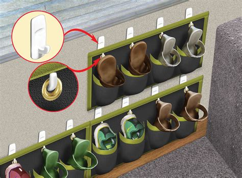 rv shoe storage rv storage solutions diy rv shoe rack trailerlife www