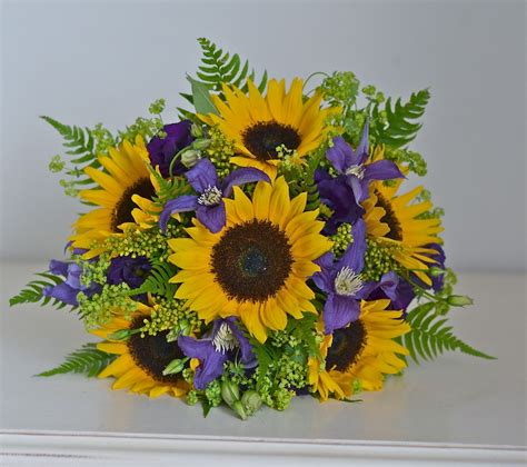 Wedding Bouquets Using Sunflowers by Wedding Flowers May 2012