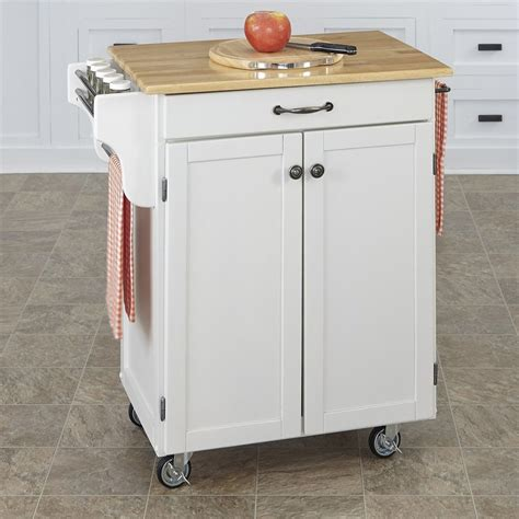 kitchen islands on casters shop home styles 32 5 in l x 18 75 in w x 35 5 in h white