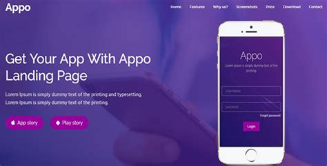 themeforest app landing page appo app landing page by mtthemes22 themeforest