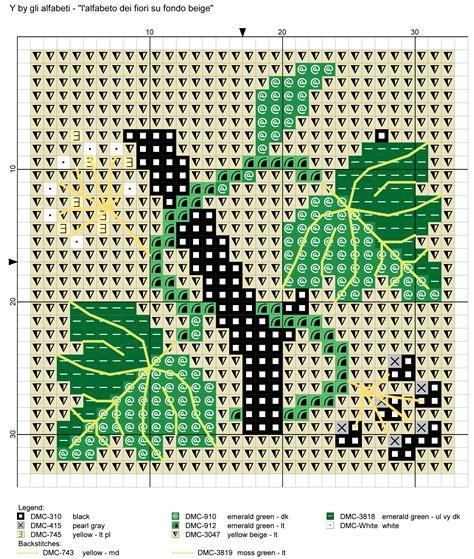 alfabeto dei fiori alfabeto dei fiori su fondo beige y punto de