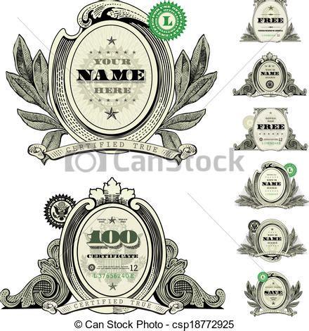Home Design Free Money Vector Illustration Of Vector Money Logo And Dollar Frame
