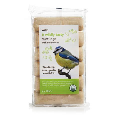 wilko wild bird suet log with mealworm 6pk at wilko com