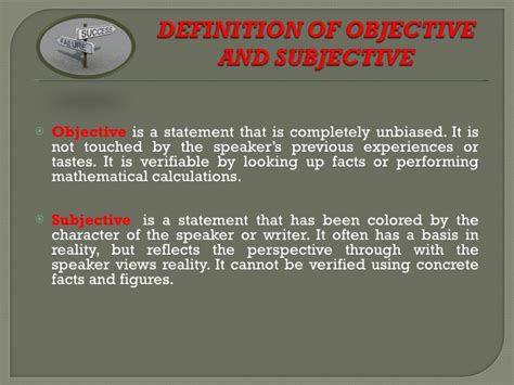 exles of objective and subjective statements subjective vs objective culture