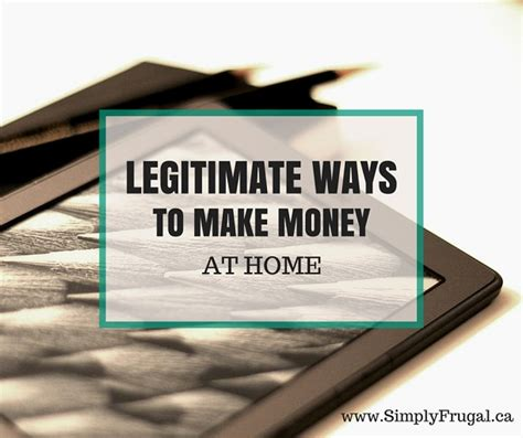 5 legitimate ways to make money at home
