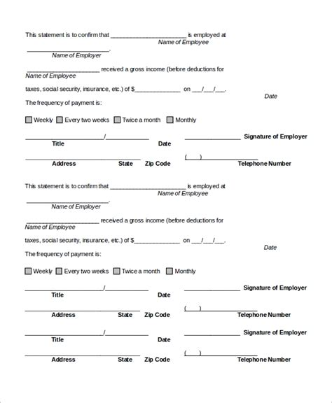 employee verification letter 10 free word pdf documents download