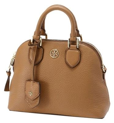 T Y Burch Pebbled Dome Mini burch satchel in tigers eye