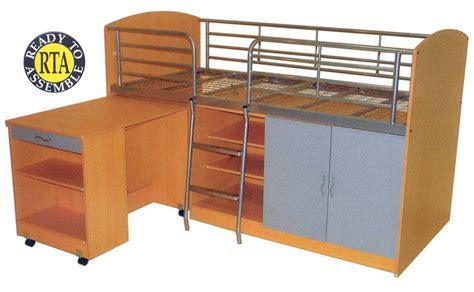 bunk bed combo kinnanes furniture combo bunk bed