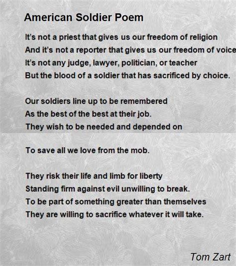 An American Poem American Soldier Poem Poem By Tom Zart Poem
