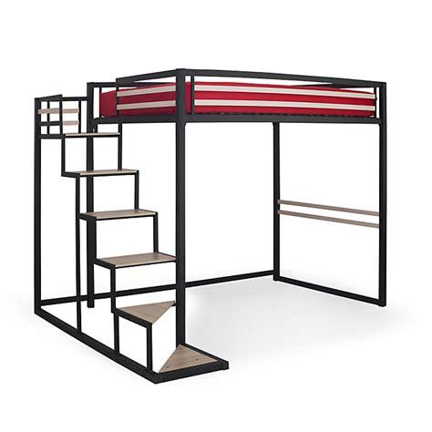 lit mezzanine 2 places bureau lit mezzanine 2 places noir avec sommier 140x200cm