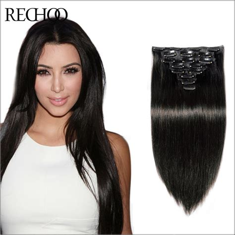black extensions hair remy hair clip in extensions 120g clip in