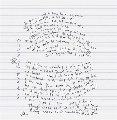 coldplay us against the world chords chris martin s handwritten lyrics to us against the world