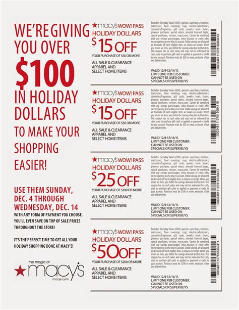 Can I Use Macy S Gift Card Online - macys savings vouchers coupon codes blog