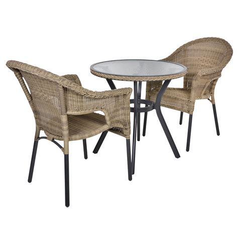 Bistro Table And Chairs Rattan Bistro 2 Seat Garden Furniture Table Chairs Set