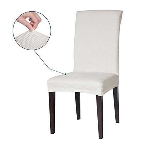 White Dining Room Chair Covers Subrtex Jacquard Stretch Dining Room Chair Slipcovers 4 White Jacquard Kitchen In The Uae