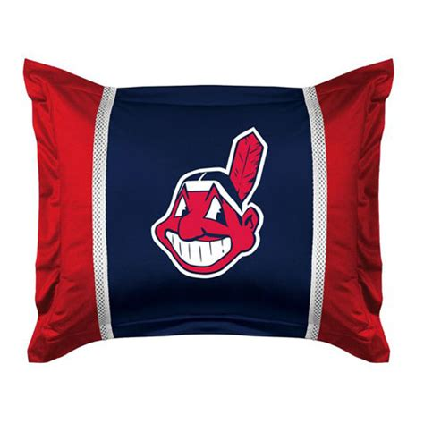 cleveland indians comforter cleveland indians mlb microsuede pillow sham
