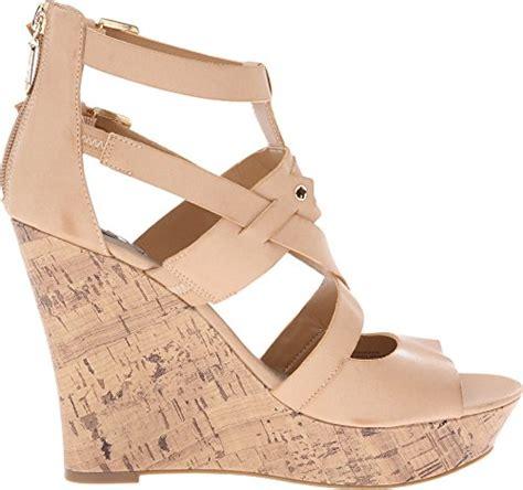 Sandal Wedges Wanita El059 Abu g by guess s doriann wedge sandals buy in