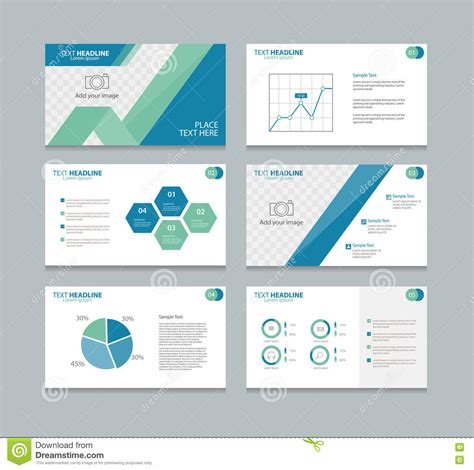 page design template free page layout design template for presentation stock vector