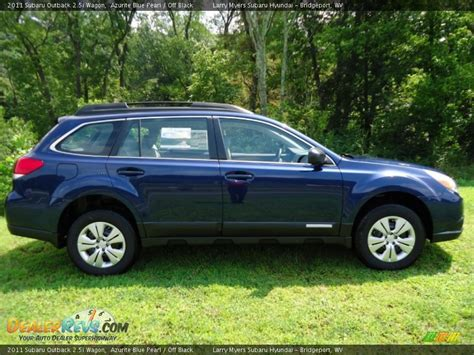 blue subaru outback azurite blue pearl 2011 subaru outback 2 5i wagon photo 2