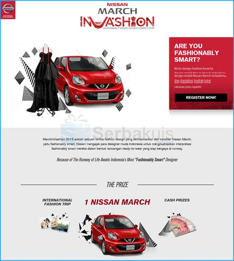 design competition indonesia 2015 nissan march invashion fashionably smart design competition