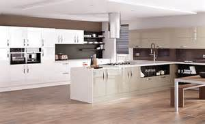 Kitchens With Large Islands Kitchen Designs Astro Gloss Dakar And White