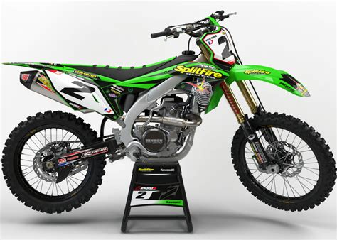 Kawasaki 250 Ltd Green kawasaki kx 125 250 2004 2008 motocross graphics mx