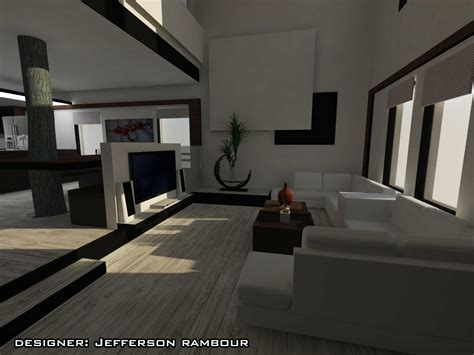 duplexe converti en moderne design interieur