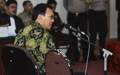 ahok imprisoned ahok charged with one year imprisonment and two years
