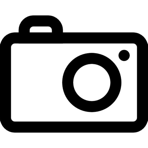 icons of photography the photography camera outline free interface icons