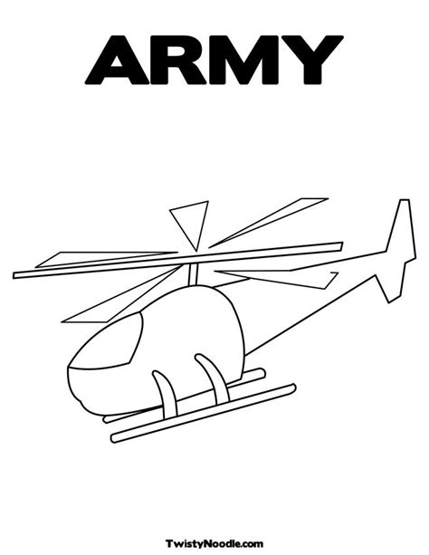 free army helicopters coloring pages
