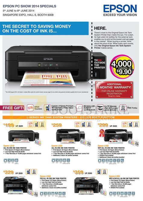 Printer Epson Stylus L300 epson printers inkjet l210 l350 l355 l550 l555 pc show