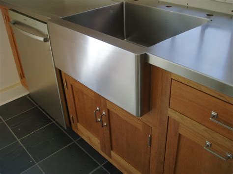stainless steel countertop with integrated sink custom sink portfolio brooks custom