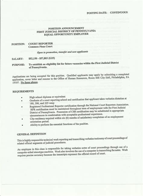 Court Reporter Resume Templates Resume Objective Court Reporter Best Summary Exles