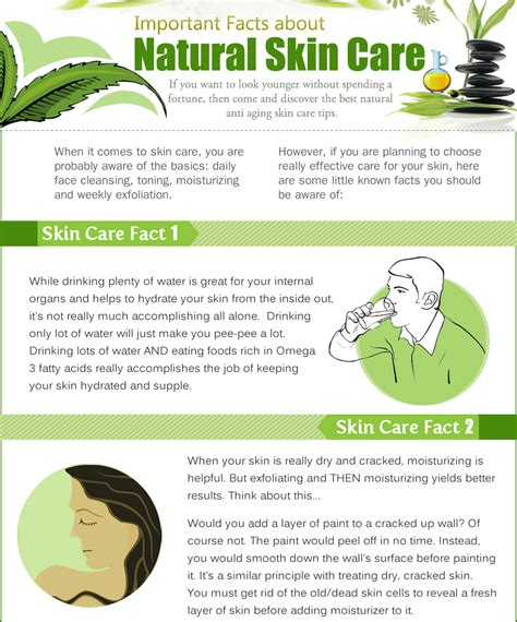 important facts about skin care infographics king