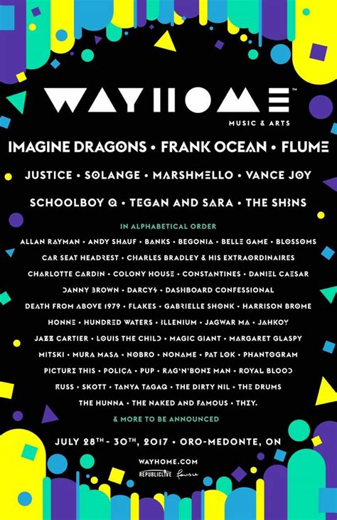 way home wayhome reveals official 2017 lineup