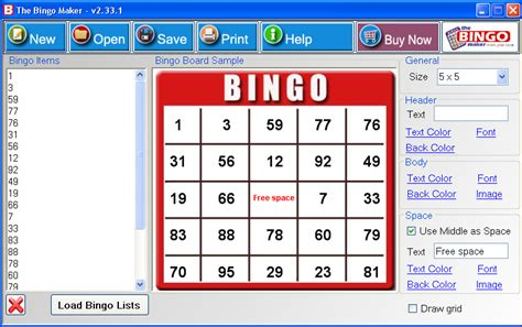 bingo card maker template free screenshot the bingo maker bingo cards print bingo cards