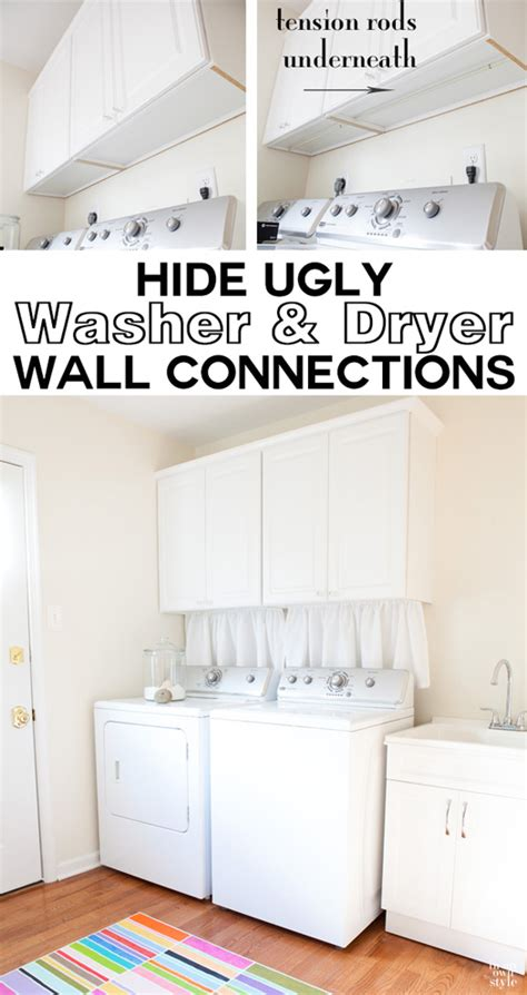 how to hide washer and dryer mudroom update with true value in my own style