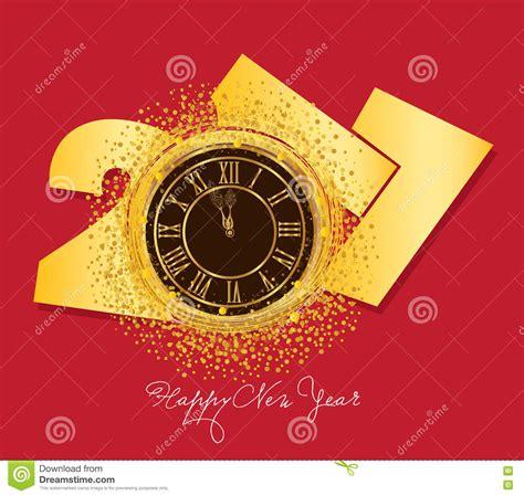 shiny new year 2017 shiny new year clock background stock vector image