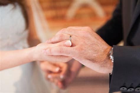 wearing wedding ring wearing wedding ring on left hand