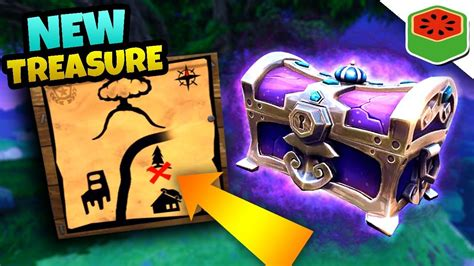 fortnite treasure map mysterious new treasure map fortnite battle royale