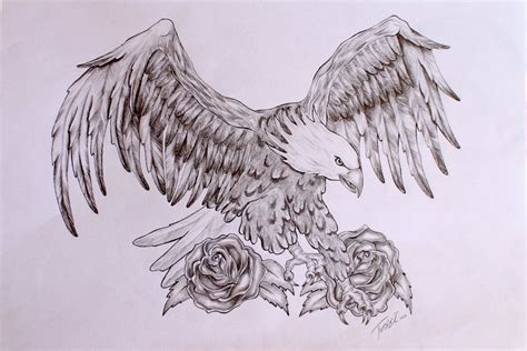 eagle and rose tattoo eagle images designs