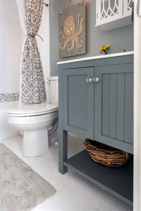this house bathroom ideas tour this rustic house renovation from hgtv s