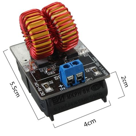 induction heater power geekcreit 174 5v 12v zvs induction heating power supply module with coil sale banggood