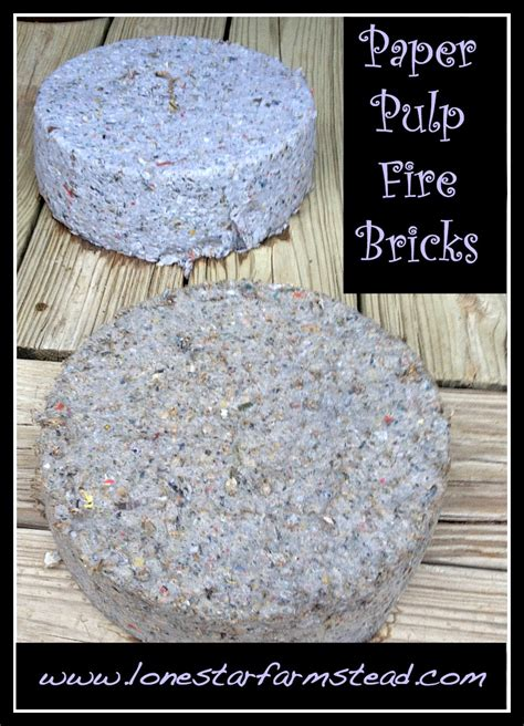 How To Make Pulp Paper - paper pulp bricks make your own lone farmstead