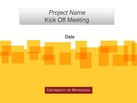 Ppt Project Name Kick Off Meeting Powerpoint Kick Meeting Ppt