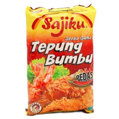 sajiku tepung bumbu sajiku tepung bumbu serbaguna 80 gram spicy instan